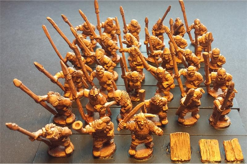 Orcian Spearmen with Shields (35 figures)