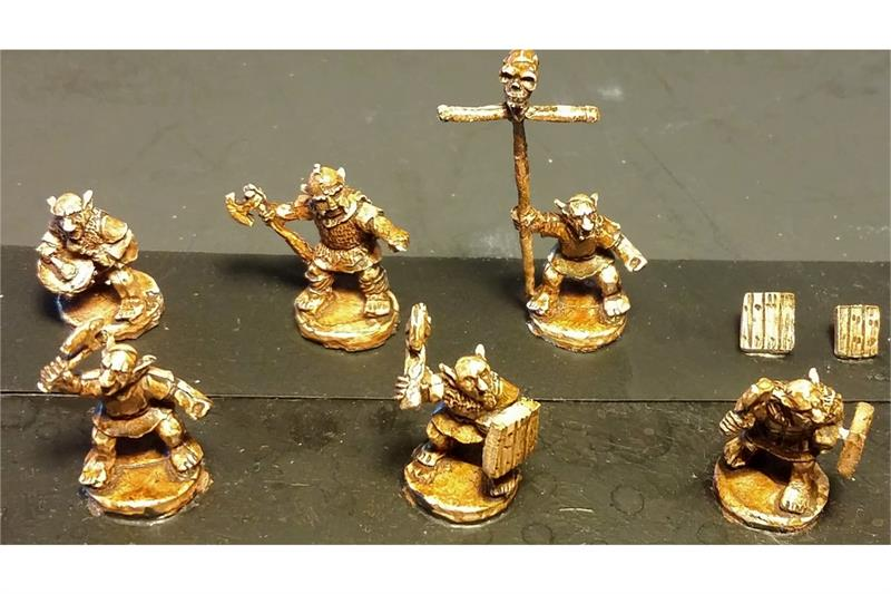 Goblian Axemen with Shields (35 figures)