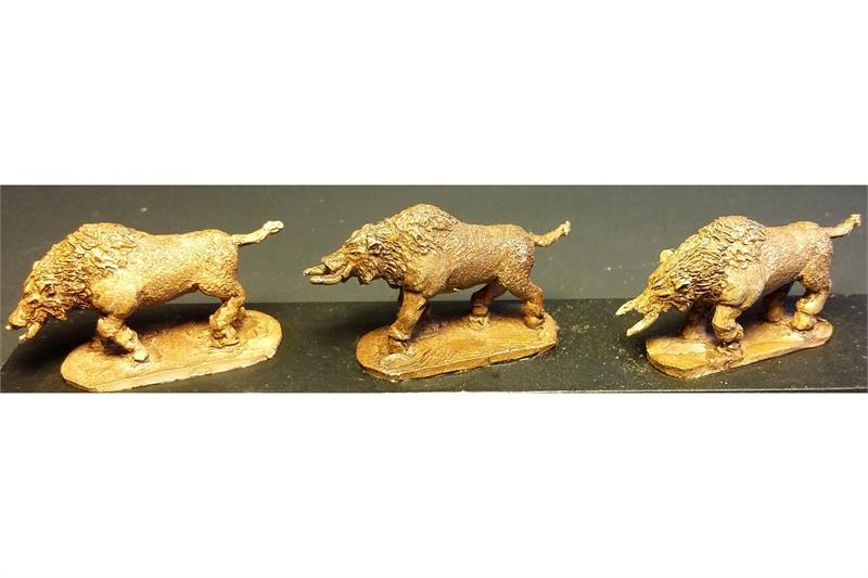 Dwarian War Boars (18 figures)