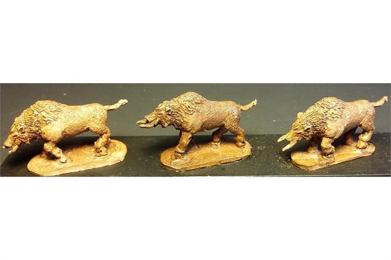 Dwarian War Boars (18 figures)