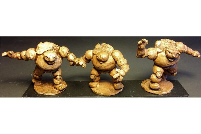 Dwarian Stone Golems (10 figures)