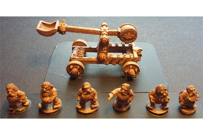 Dwarian Stone Thrower (1 Stone Thrower & 6 Crew)