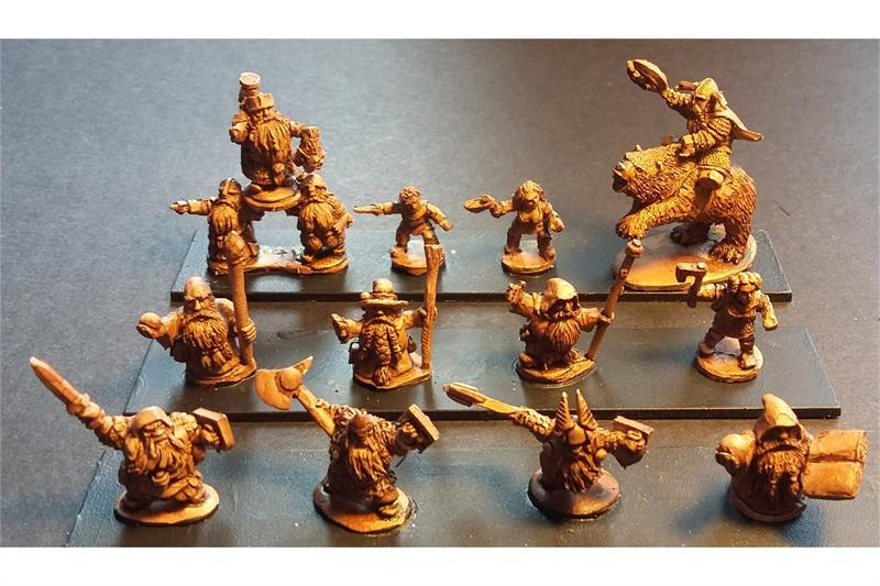 Dwarian Characters (12 figures)