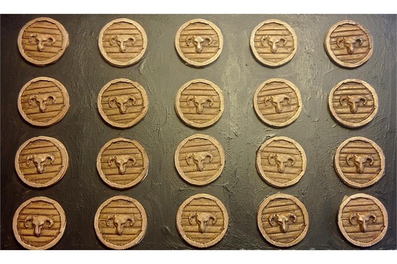 Dwarian Rams Head Shields (20 Shields)