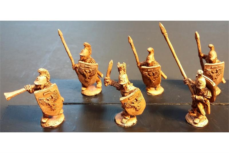 Legian Spearmen with Shields (35 figures)