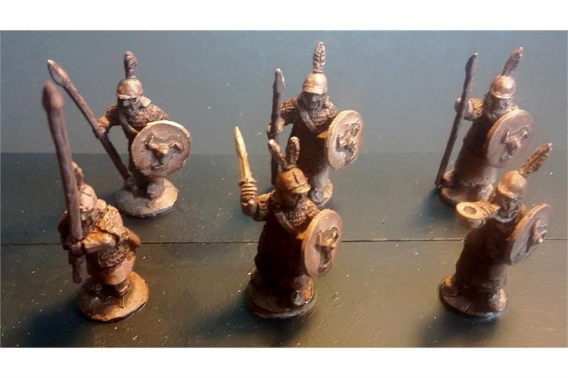 Stygian Spearmen with Shields (35 figures)