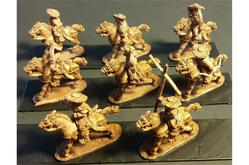 Stygian Cavalry with Bows Unarmored Horse (16 figures)