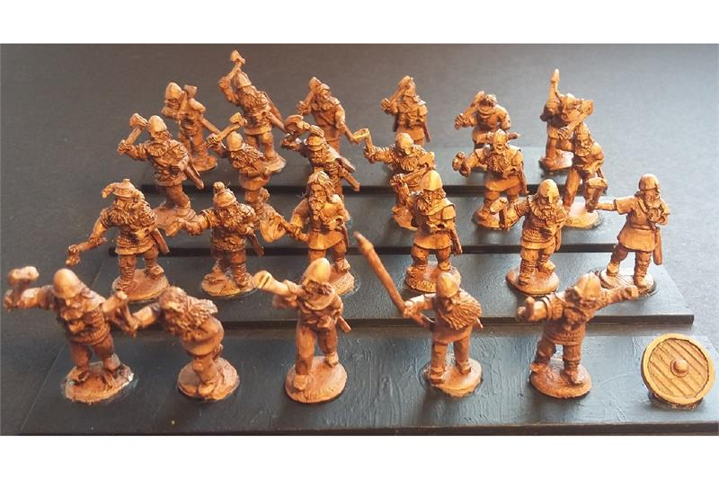 Frigian Axemen with Shields (35 figures)
