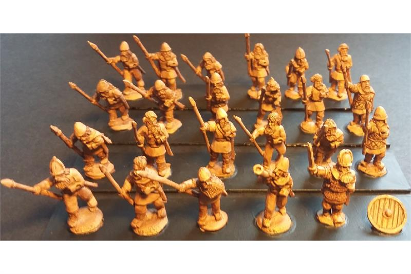 Frigian Spearmen with Shields (35 figures)