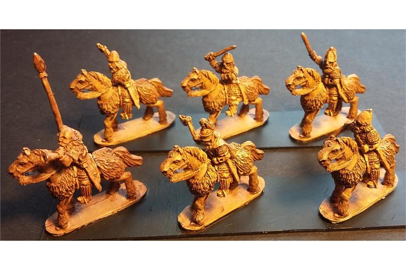 Frigian Cavalry with Hand Weapons and Shields Lightly Armored Horse (16 figures)