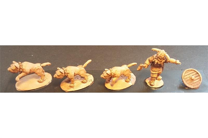 Frigian War Hounds with Pack Master (19 figures)