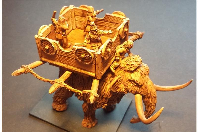 Frigian War Mammoth and Crew (1 figure)