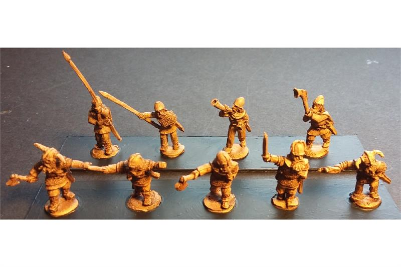 Frigian Command Officers, Standards, and Musicians (15 figures)