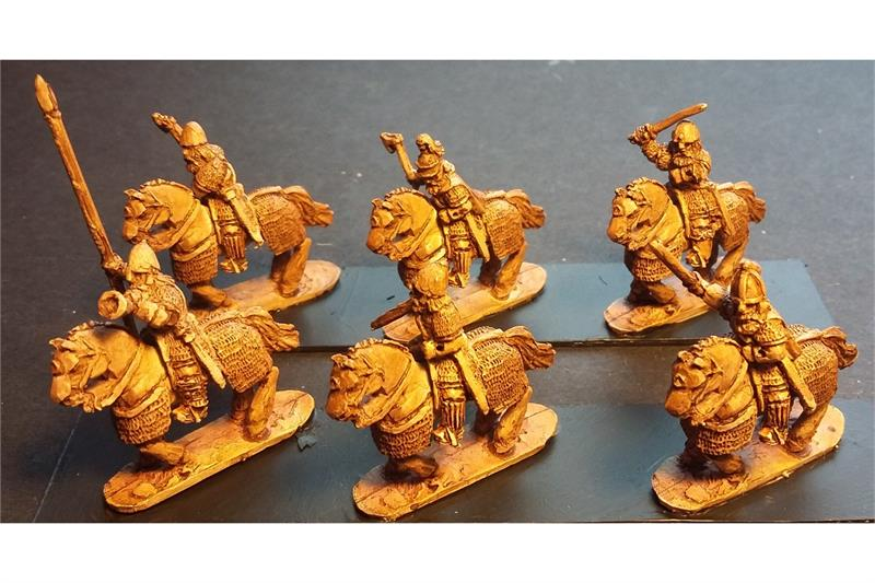 Frigian Cavalry with Hand Weapons and Shields Heavily Armored Horse (16 figures)