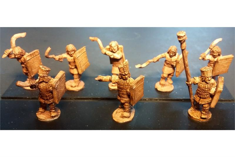 Pyramian Swordsmen with Shields (35 figures)