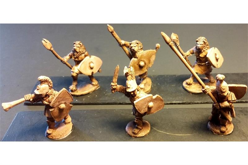Legian Lionian Spearmen with Shields (35 figures)