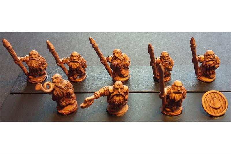 Dwarian Shame Bearers with Spears and Shields (35 figures)