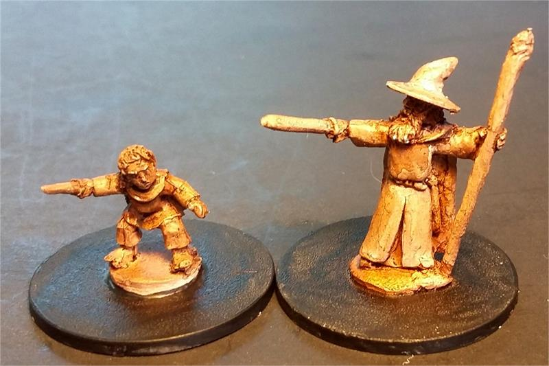 Wizard and Dwarian Bodyguard (2 figures)