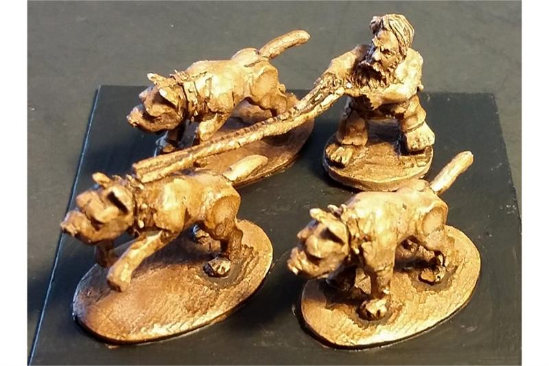 Dwarian Dog Handler (4 figures)