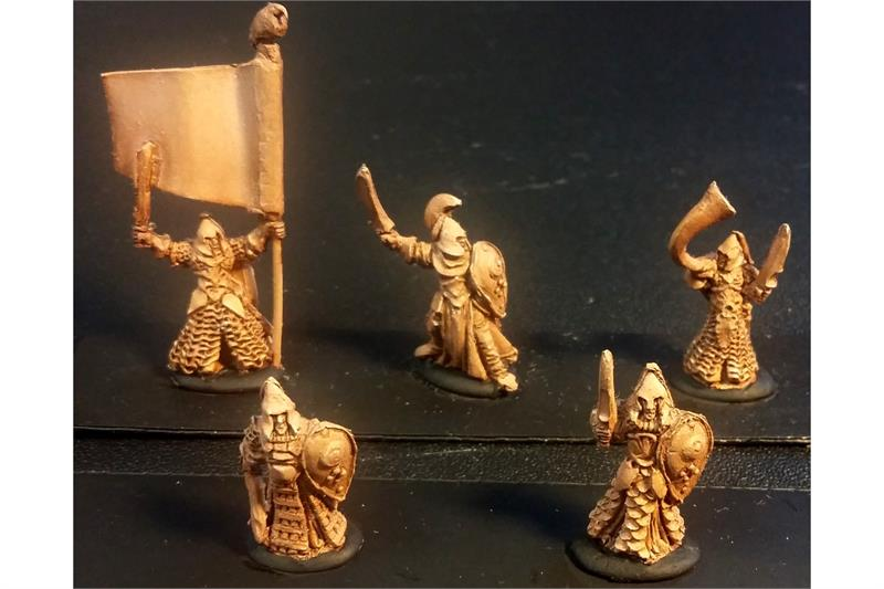 Delvian Swordsmen with Shields (35 figures)