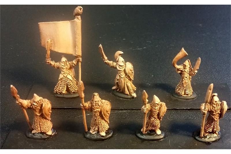 Delvian Spearmen with Shields (35 figures)