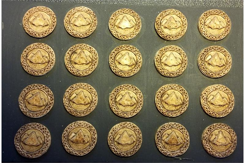 Dwarian Ornate Mountain Shields (20 Shields)
