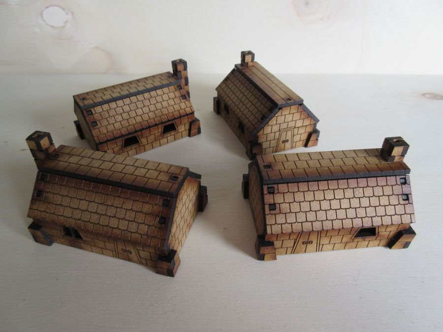 Simple Dwarf dwellings 15mm