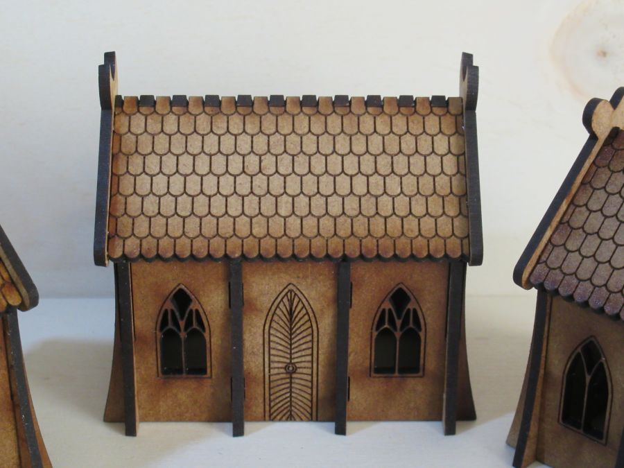 Simple Elven dwellings 15mm