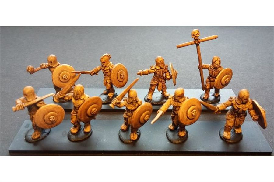 Hellian Swordsmen with Shields (35 figures)
