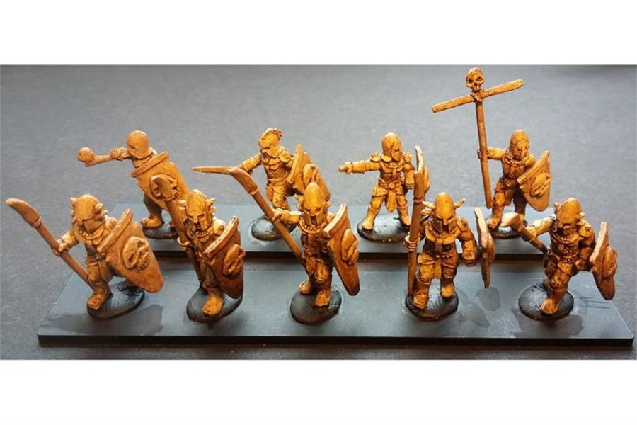 Hellian Spearmen with Shields (35 figures)