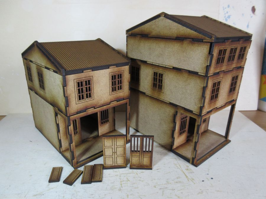 Asian Shop Houses 28mm Multi-pack of sets 1,2 and 3
