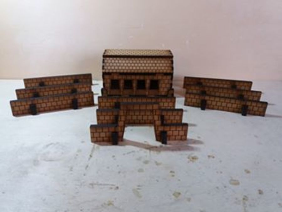 Dwarf Stable and Walls 15mm
