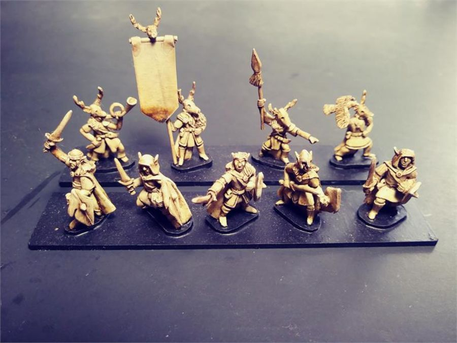 Wovian Swordsmen with Shields (35 figures)