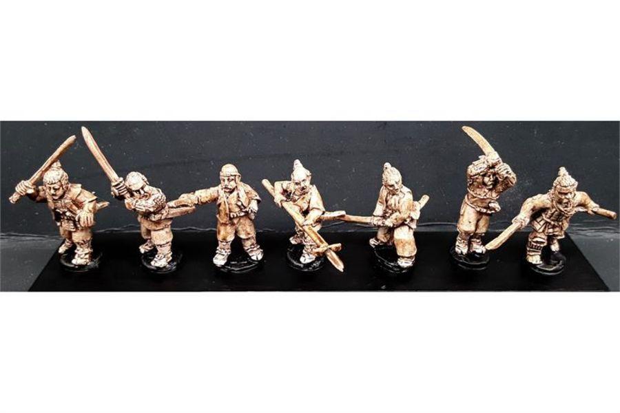 Seven Unarmored Samurai (7 figures)