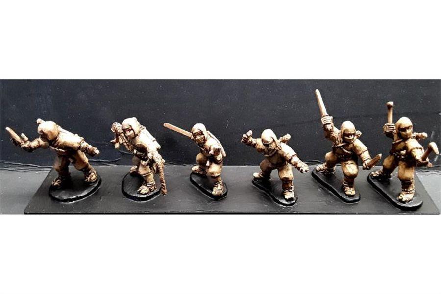 Ninjas with Various Weapons (6 figures)