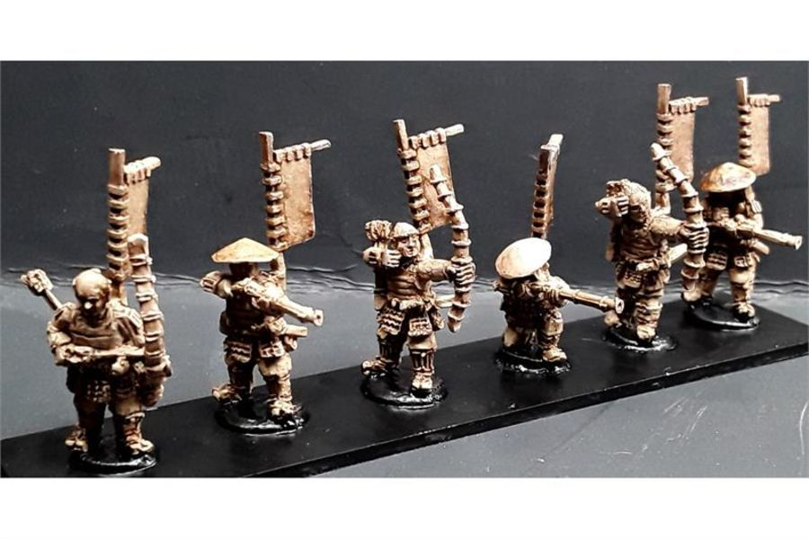 Ashigaru with Teppo/Yumi (6 figures)