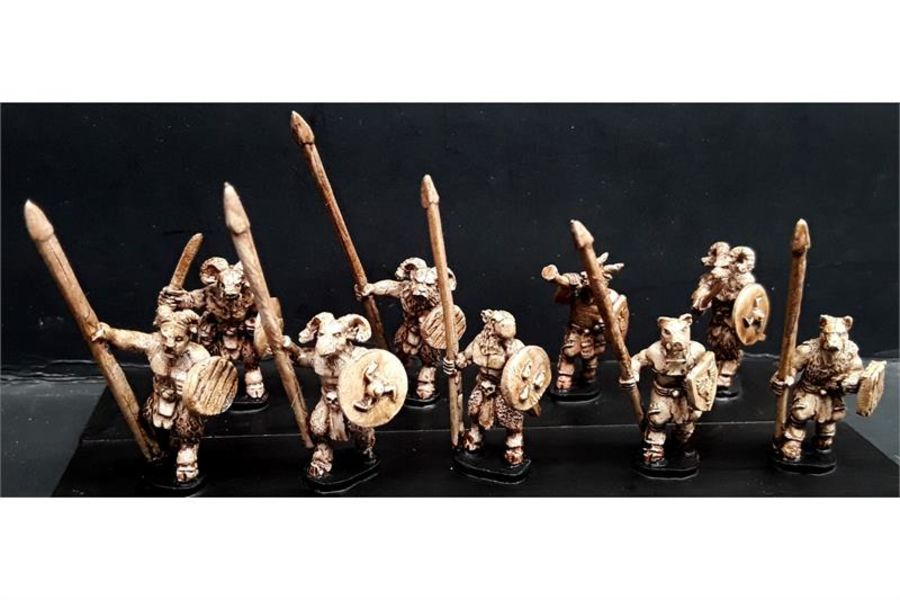 Bestians with Spears & Shields (35 figures)