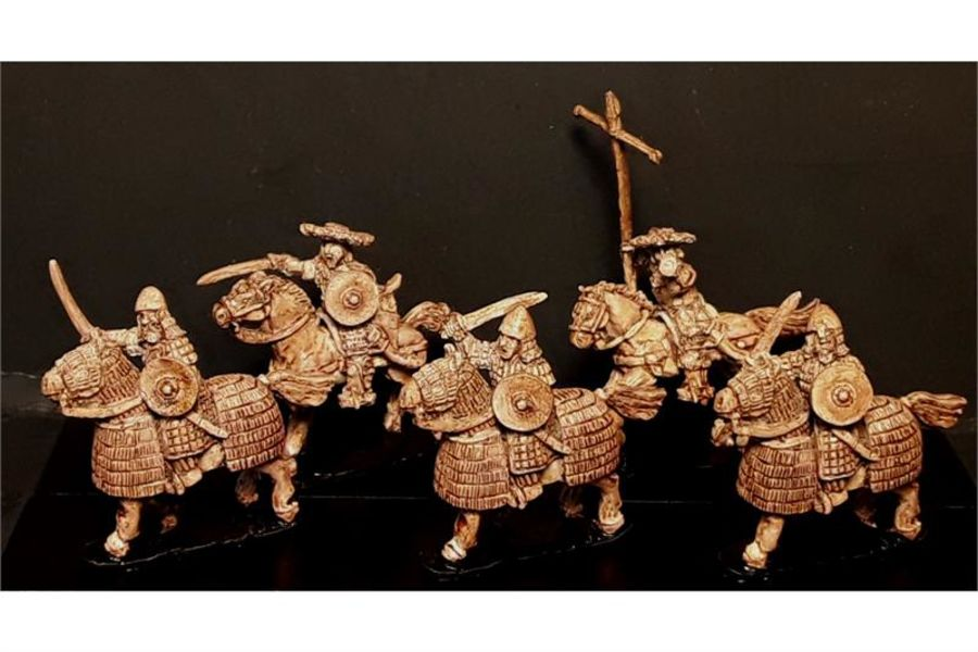 Stygian Cavalry with Swords & Shields on Heavily Armored Horses (16 figures)