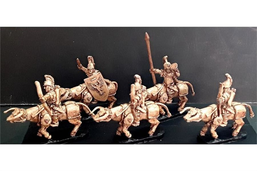 Legian Cavalry with Bows on Heavily Armored Bulls (16 figures)