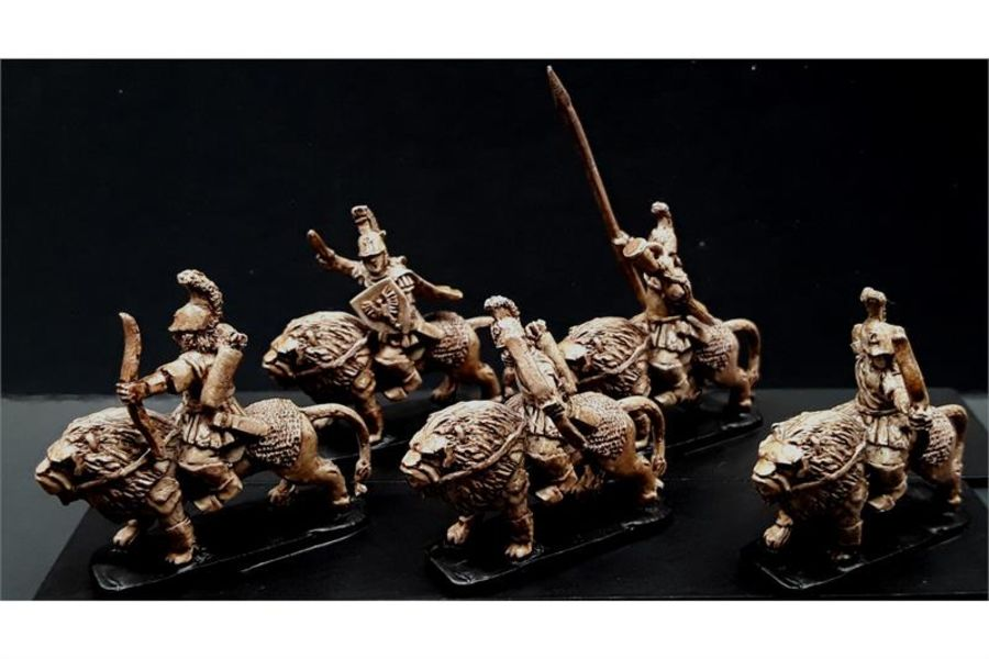 Legian Cavalry with Bows on Armored Lions (16 figures)