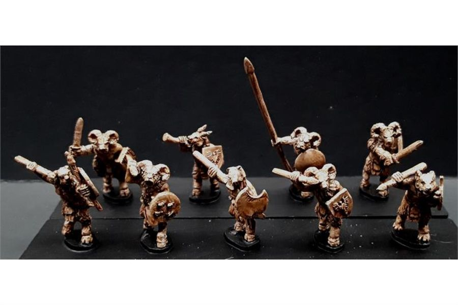 Bestians with Javelins & Shields (35 figures)