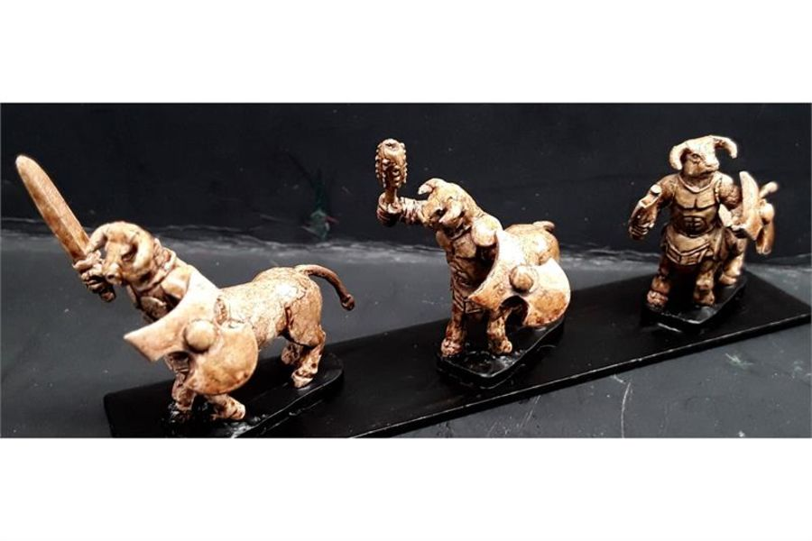 Bestian Cavalry Heavily Armored Bulltaurs with Swords & Shields (16 figures)