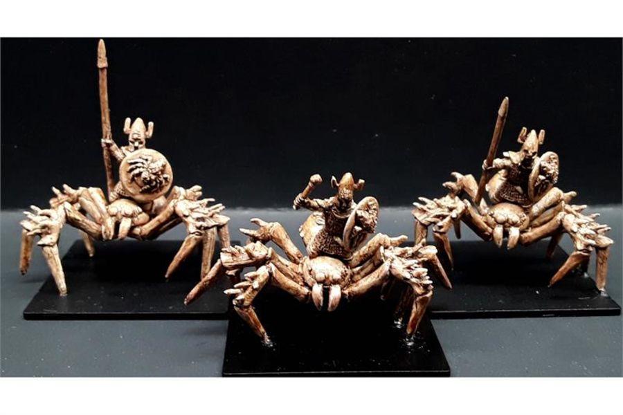Delvian Ice Spider Riders (3 figures)