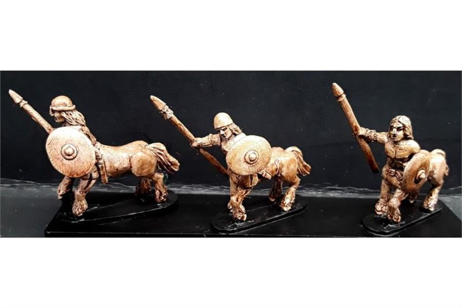 Bestian Cavalry Lightly Armored Centaurians with Spears & Shields (16 figures)