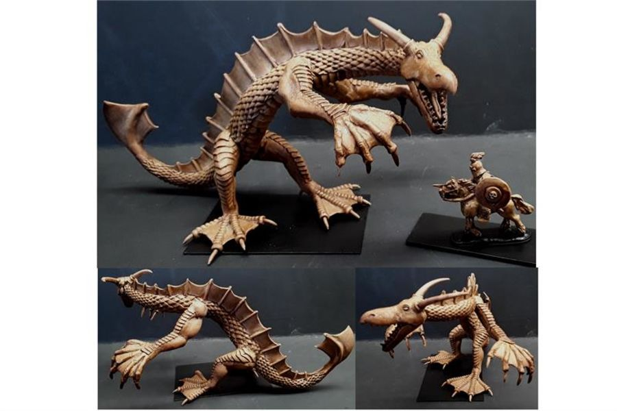 Elvian Lake Wyrm (1 figure)