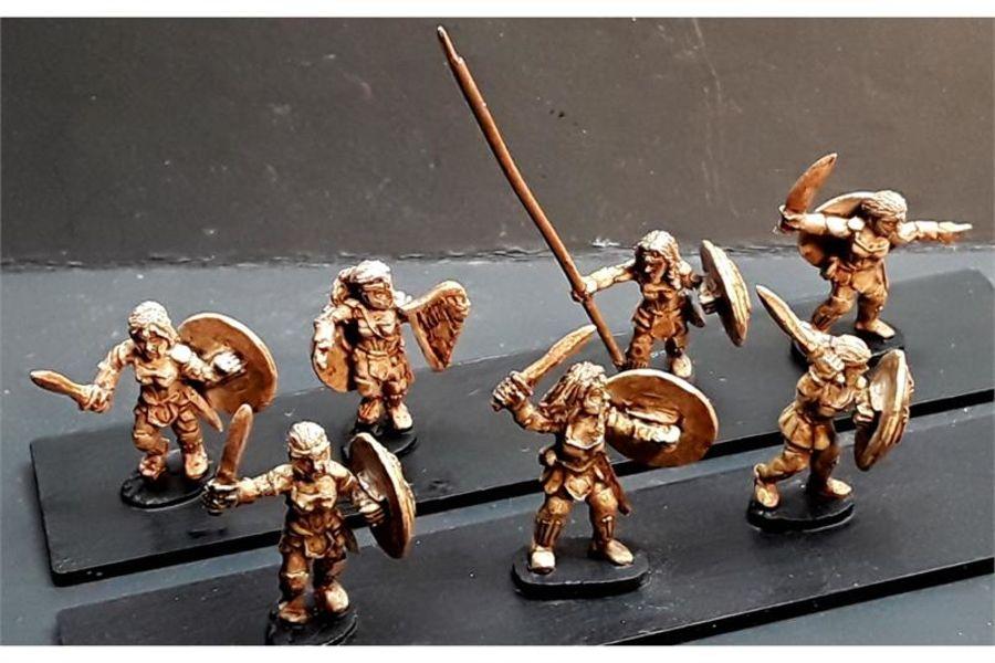 Amazonian Swordswomen with Shields (35 figures)