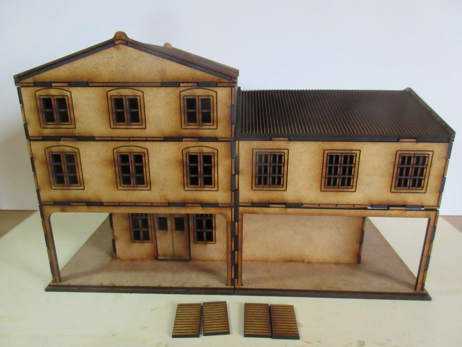 Asian Shop House Corner Version 28mm