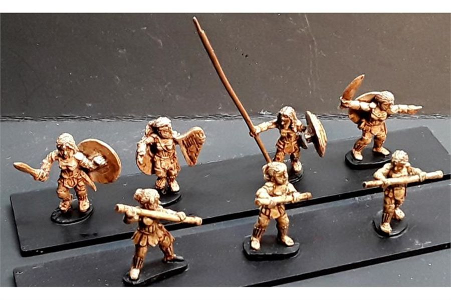 Amazonian Warriors with Staves (35 figures)