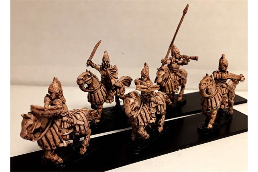 Vampirian Cavalry with Crossbows on Heavily Armored Horses (16 figures)