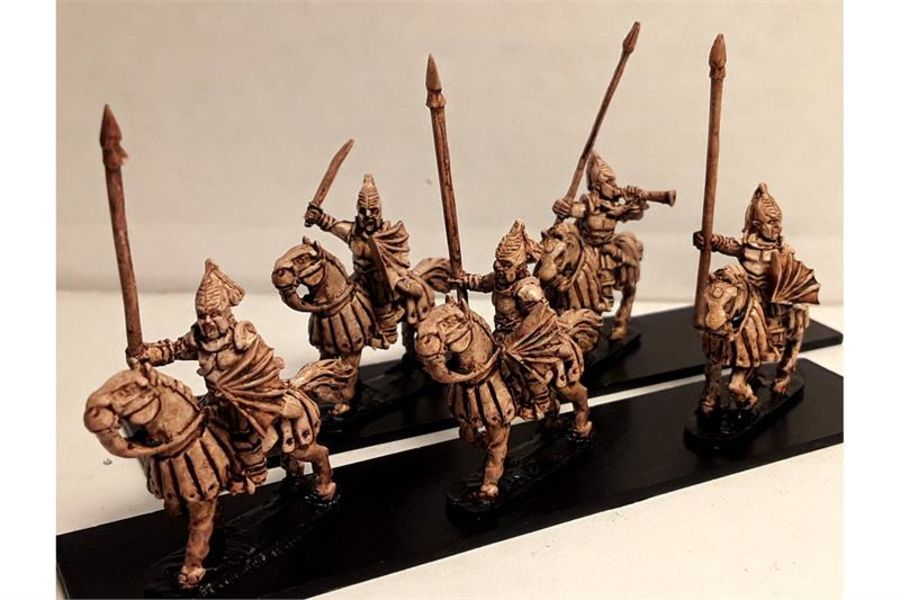 Vampirian Cavalry with Lances & Shields on Heavily Armored Horses (16 figures)